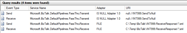 Null Adapter - Tracked Messages