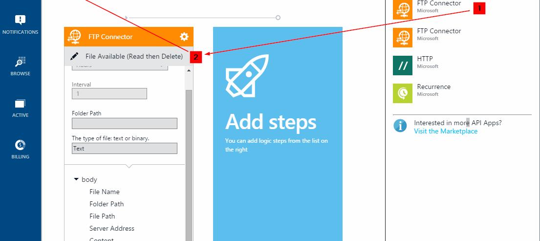 Screenshot 2 - Add FTP Connector