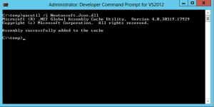 Screenshot 1 - Gacutil added assembly
