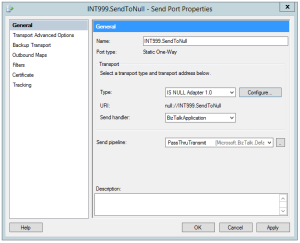 Null Adapter - Send Port
